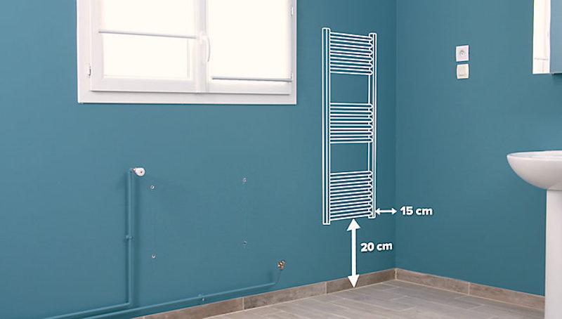 remplacement d'un radiateur par un sèche serviette à eau chaude